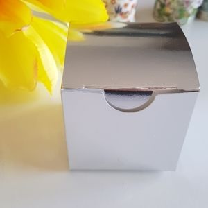 """10 Silver Gift Boxes 2""""x2""""x2"""" in"""